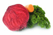 Red beet, carrot and parsley