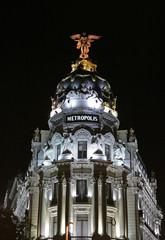 Metropolis Building by night