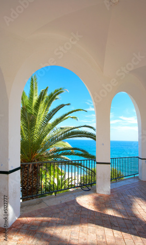 canvas print picture View from a luxury villa in Spain