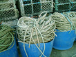 Ropes & lobster pots in fishing port