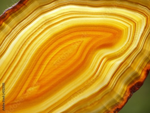 yellow agate slices