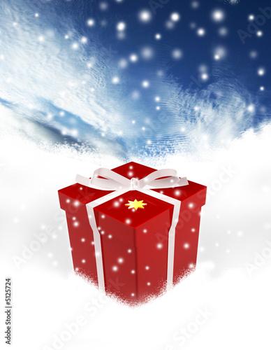 Geschenk im Schnee