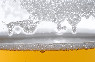 Detail of beer in glass