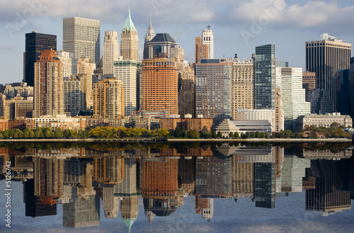 Fototapety, obrazy : Image of Lower Manhattan and the Hudson River.