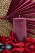 Leinwandbild Motiv Spa candle