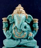small statue of Ganesha, a hindu symbol poster