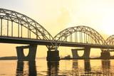 Fototapete Bahn - Verkehr - Brücke