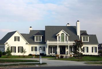 White brick home