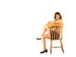 jolie femme assise sur chaise