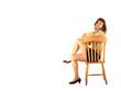 jeune femme assise sur une chaise