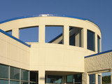 Circular building poster