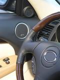 Luxury car convertible steering wheel poster
