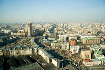 Moscow city center general view