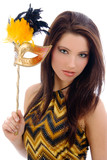 Fototapety Beautiful woman with carnival mask