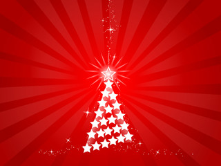 christmas tree with stars