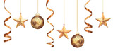 Fototapety Gold christmas decorations