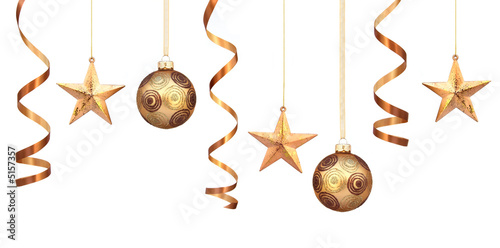 Gold christmas decorations - 5157357