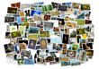 canvas print picture - Stack of photos - background