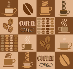 coffee related square illustration