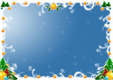 Cornice natalizia blu poster
