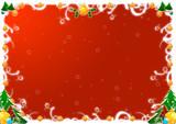 Cornice natalizia rossa poster