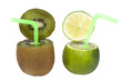киви и абстрактные лимонный напиток.