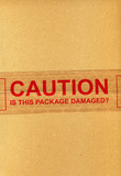 CAUTION is this package damaged? poster