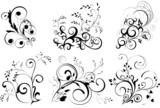 Fototapety ornaments, design elements - vector