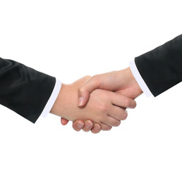 businesswomens shaking hands