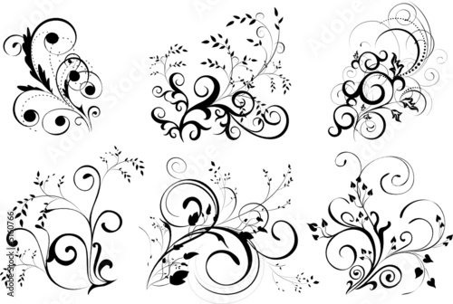 ornaments, design elements - vector