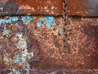 Old rusted ship detail