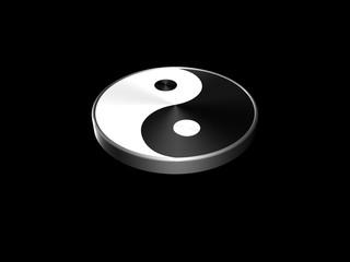 Yin Yang schwarz