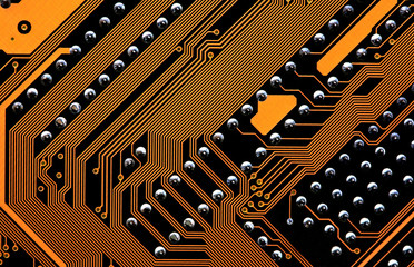 circuits of a computer motherboard