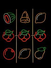 jackpot machine neon
