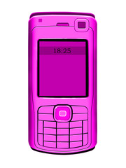 pink mobil telephone