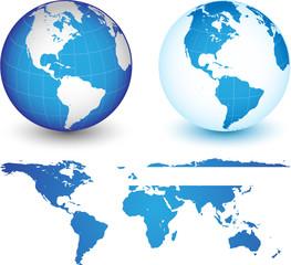 Planète terre vectorielle, facilement modifiable