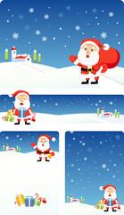 Christmas bacground set   Santa