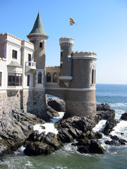 Vina del Mar. Fairy castle at the shore