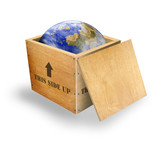 World in a box delivered poster