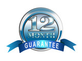 12 month guarantee icon poster