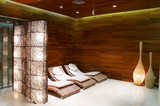 Interiors. lounge to the swimming pool and sauna. poster