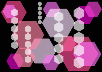 abstract hexagon design