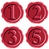 Red wax seal with numbers poster