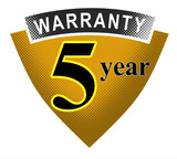 2 year warranty shield poster