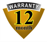 12 month warranty icon poster