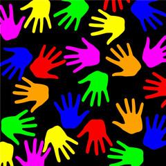 mains de couleur