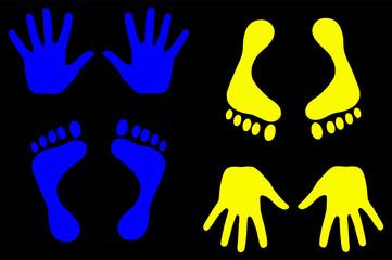 bleu et jaune