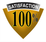 100% satisfaction shield poster