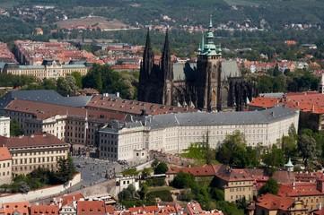 Saint Vitus's Cathedral and Prague Castle view