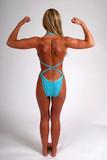 Woman flexing back poster